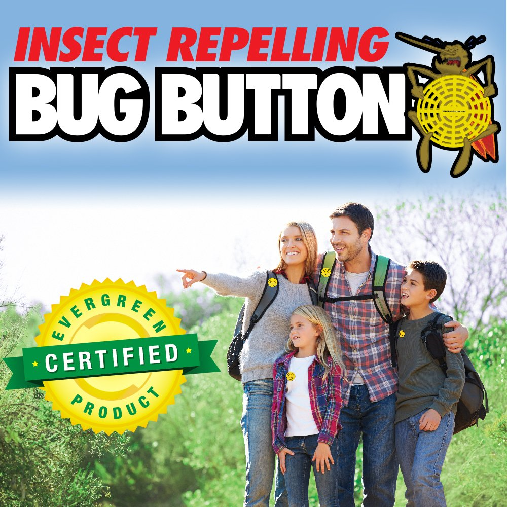 BUG BUTTON - All Natural Mosquito Repelling Badge - Guaranteed to Work - No Messy Lotions, Sprays, or Plastic - Fast & Easy! 30 Day Money Back Guarantee (200) by Superband (Image #2)