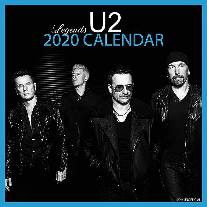 U2 2020 - Calendario de pared de 12 x 12 cm, cuadrado, con póster de regalo de cumpleaños o Navidad: Amazon.es: Oficina y papelería