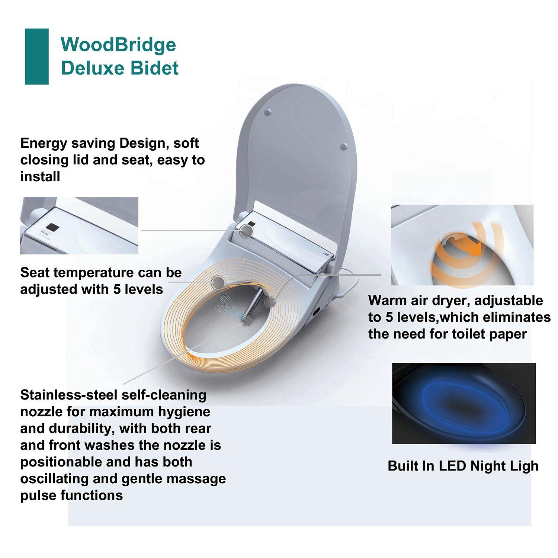Woodbridge Luxury Elongated One Piece Advanced Bidet Smart Toilet