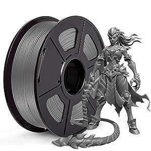 JAYO PLA 3D Printer Filament, PLA Filament 1.75mm, Dimensional Accuracy +/- 0.02 mm, 1kg Spool(2.2lbs), Grey, Pack of 1