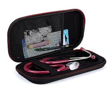 Funda para transporte de estetoscopio 3 m Littmann Classic III MDF Acoustica MD y otros accesorios, Black+Red zipper: Amazon.es: Industria, ...