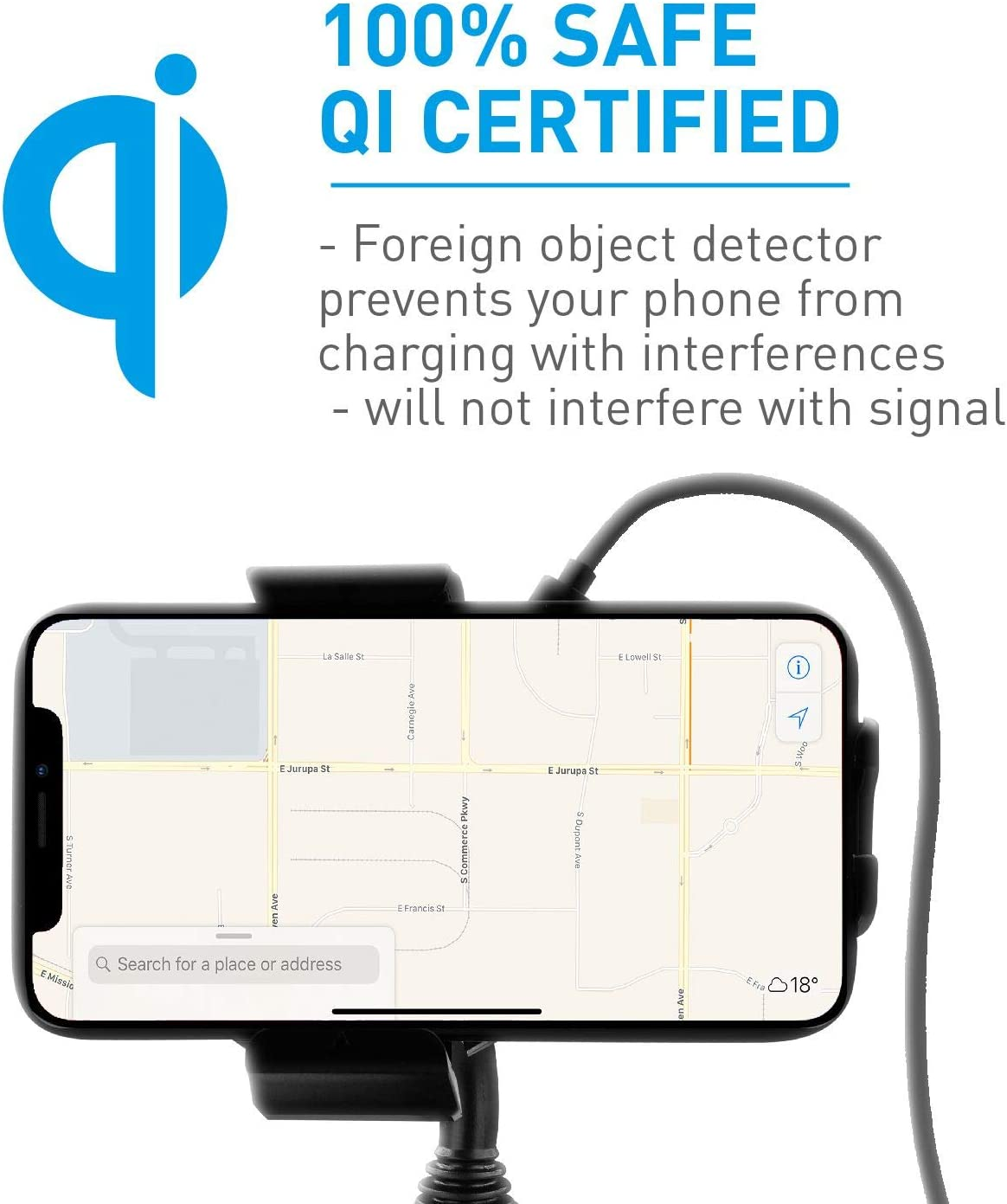 S10e S9 S8 Note etc. Macally Wireless Charging Car Mount Cup Holder Phone Mount Charger Compatible with Fast Charging Qi 10W 7.5W 5W for iPhone 11 Max Pro Xs XS Max XR X 8 8 Plus Samsung Galaxy S10