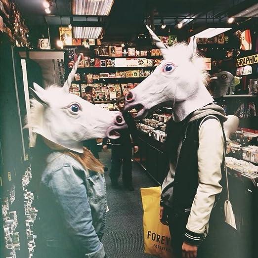 rusero máscara de Animal unicornio cabeza de caballo cosplay ...