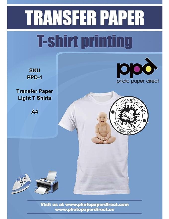 PPD A4 Papel transfer para hacer camisetas. Impresión en camiseta ...