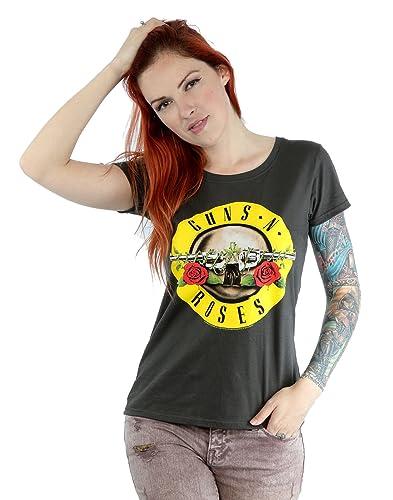 Guns N Roses Donna Bullet Logo Maglietta X-Small grafite Luce