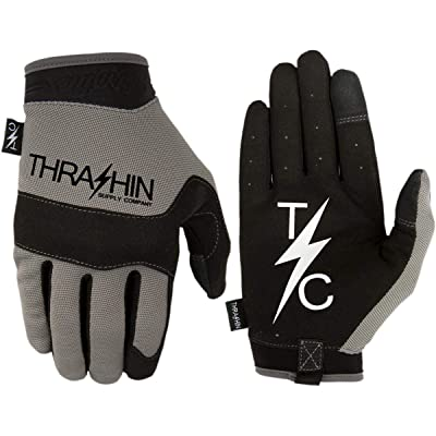 Thrashin Supply Covert V2 Mens Textile Gloves Gray XL: Automotive