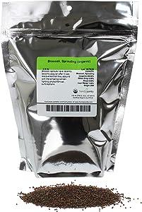 Organic Broccoli Sprouting Seeds by Handy Pantry | 2.5 Pound Resealable Bag | Bulk Non-GMO Broccoli Sprouts Seeds, Contain Sulforaphane