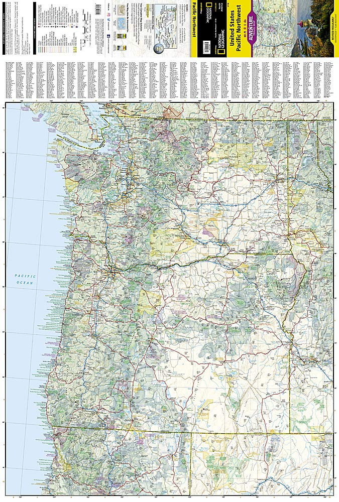 United States, Pacific Northwest (National Geographic Adventure Map  (3118)): National Geographic Maps: 0749717000605: Amazon.com: Books