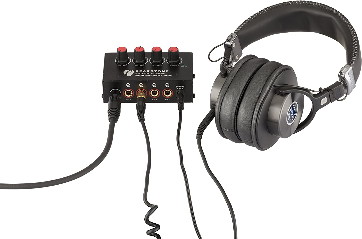 Pearstone HBOX-4000 4-Channel Stereo Headphone Amplifier Power ...