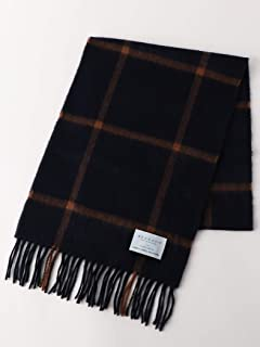 Green Label Relaxing Wool Angora Scarf 3236-499-0908: Navy