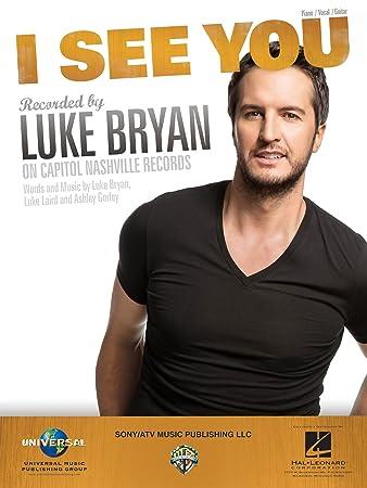 Amazon Luke Bryan I See You Sheet Music Single Musical