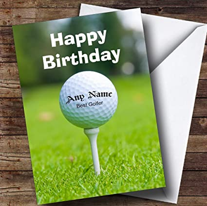 Golf Ball Golfing Fan Funny Personalised Birthday Card Amazoncouk Office Products