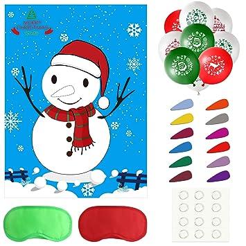 tuparka weihnachts spiele mit 24 nasen und 20 stuck weihnachtsballons fur weihnachtsfeiertags party