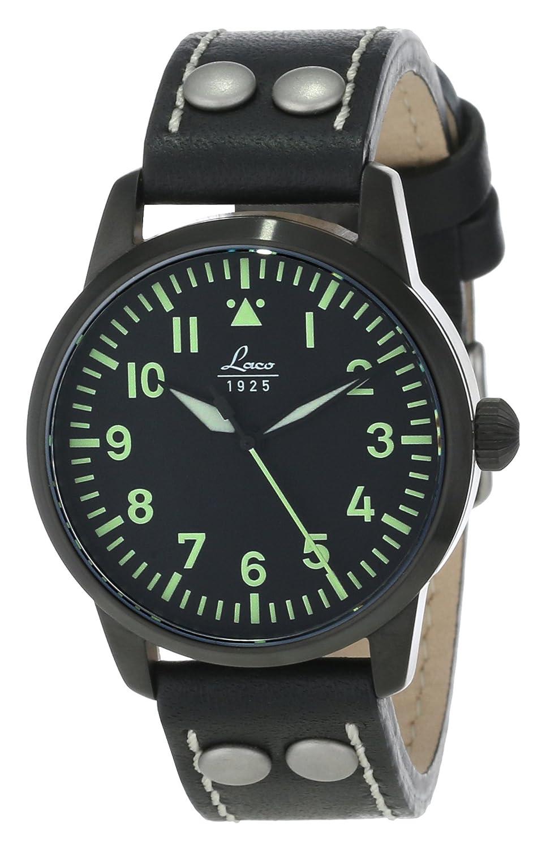 Laco 1925 Herren-Armbanduhr Laco Navy 861611 Analog Automatik Leder braun 861611