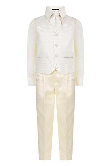 Baby Boy Suit Christening Pageboy Birthday Party Smart Outfit Jumper White 0-18M
