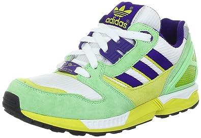 2b0afb742793 adidas Originals ZX 8000 V24595, Herren Sneaker, Weiss (WHITE   COLLEGIATE  PURPLE