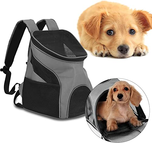 Filfeel Pet Backpack, Portable Breathable Soft Dog Cat Carrier Puppy Travel Bag Outdoor Use