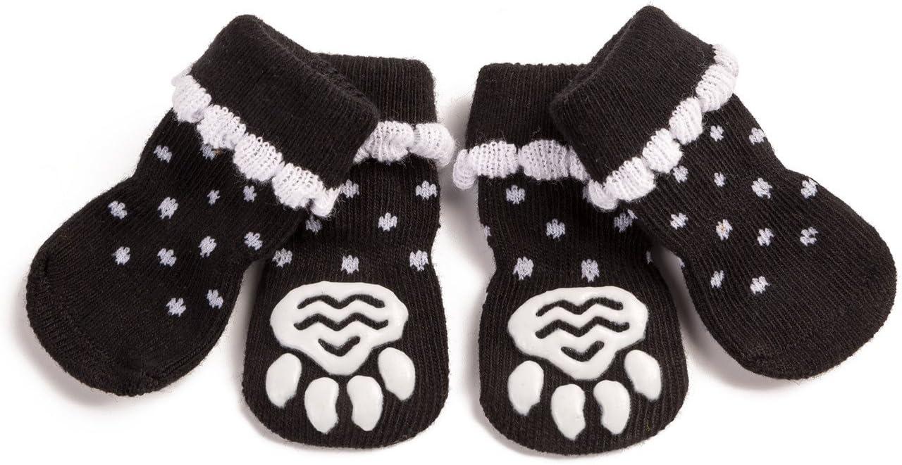 Harfkoko Pet Heroic Anti-Slip Knit Dog Socks/&Cat Socks with Rubber Reinforcement Anti-Slip Knit Dog Paw Protector/&Cat Paw Protector for Indoor Wear Suitable for Small/&Medium/&Large Dogs/&Cats