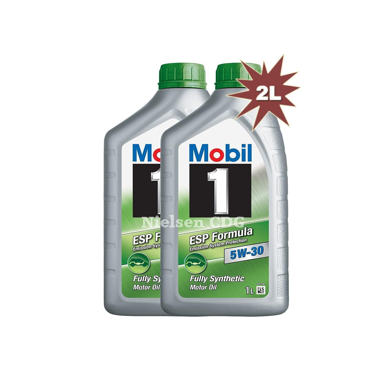 Mobil 1 ESP 5 W-30 Totalmente Aceite sintético de motor 146238 2 x 1L=2L: Amazon.es: Coche y moto