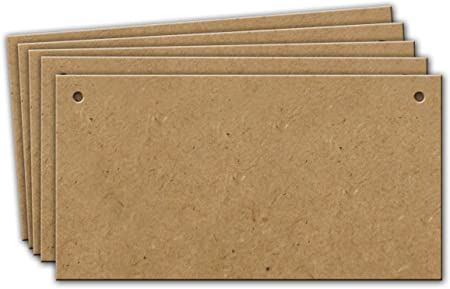 Wooden MDF Blank Plaques 100mm Various length and thickness available.