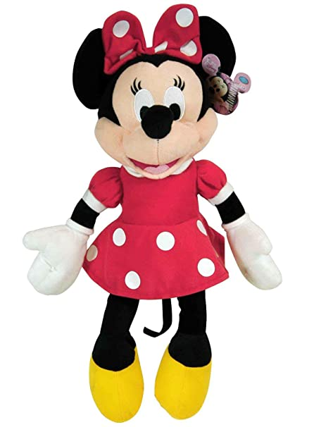 "105efe8fac250 Image Unavailable. Image not available for. Color: Disney Plush Classic Minnie  Mouse Red Polka Dot Dress 15"" Toy Doll"