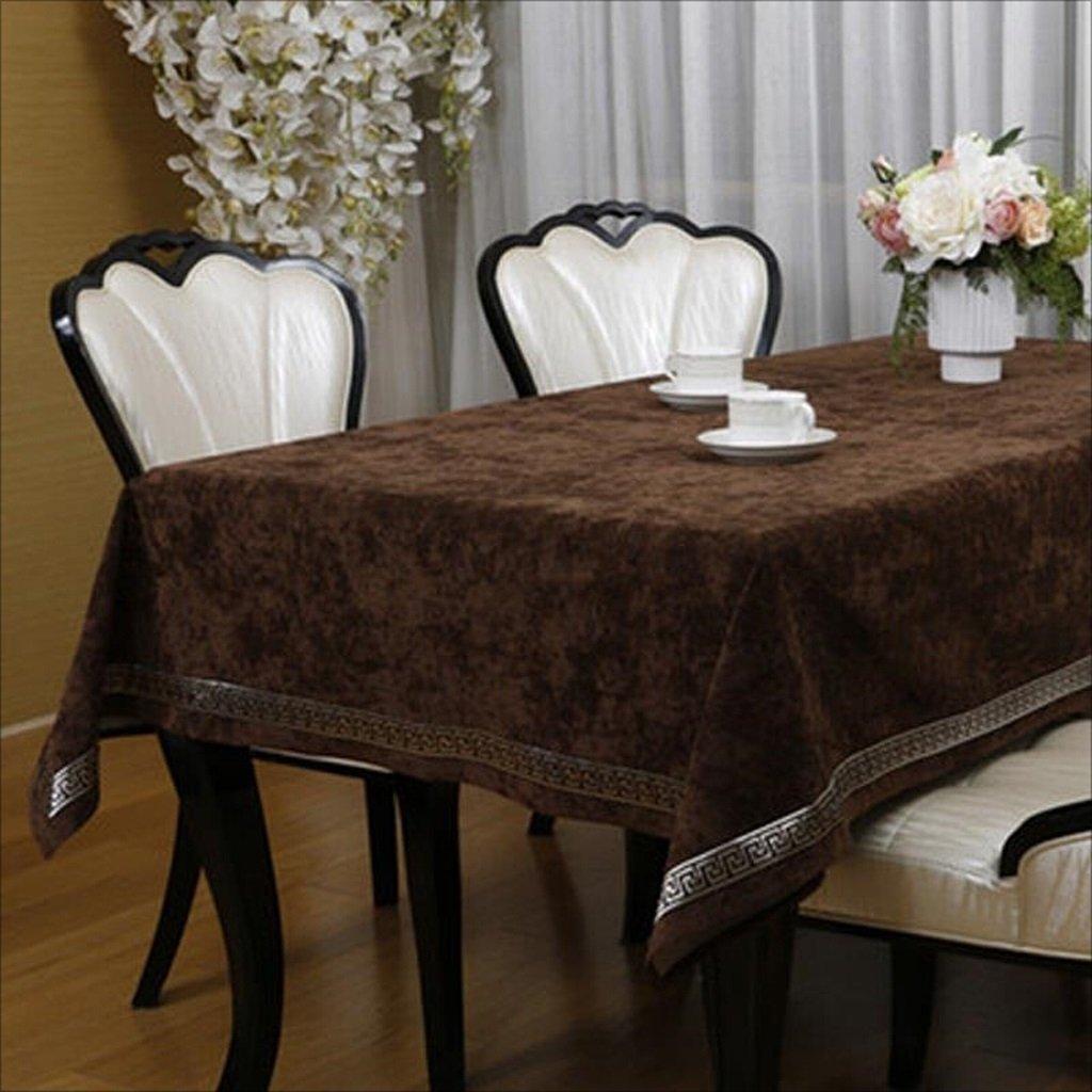 LIAN Tovaglia Europea Moderna Tovaglia Quadrata Lussuosa Tavolo da Pranzo (colore   Marronee, Dimensioni   51.2  70.9inch)