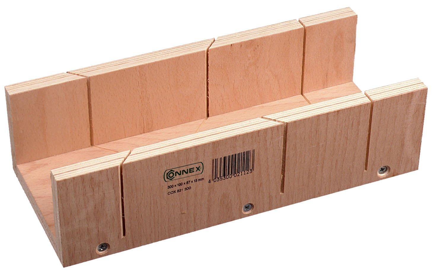 COX821240 Connex Cassetta tagliacornici in compensato 240 x 60 x 35 mm