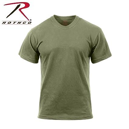 9914b4032b52 Amazon.com  Rothco Moisture Wicking T-Shirt Foliage Green  Sports ...