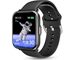 Smart Watch for Android Phones iOS, KALINCO Swim Watch with Heart Rate Monitor Pedometer Calorie Counter, 5ATM Waterproof Fit