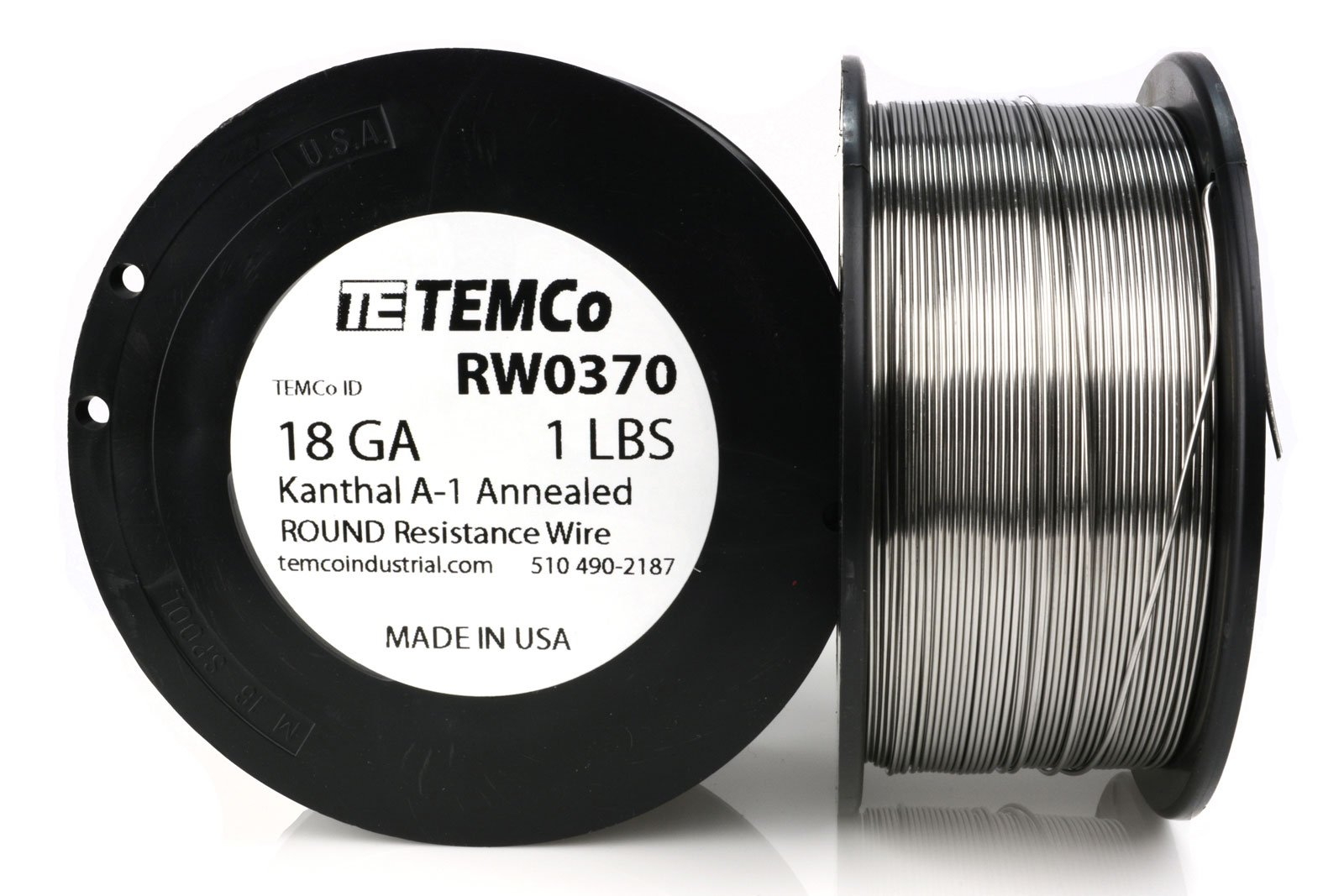 TEMCo Kanthal A1 wire 18 Gauge 1 lb (253 ft) Resistance AWG A-1 ga