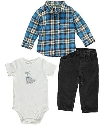 946f80733 Amazon.com: Carters Baby Boy 3-piece Bodysuit Pants Shirt Set: Clothing