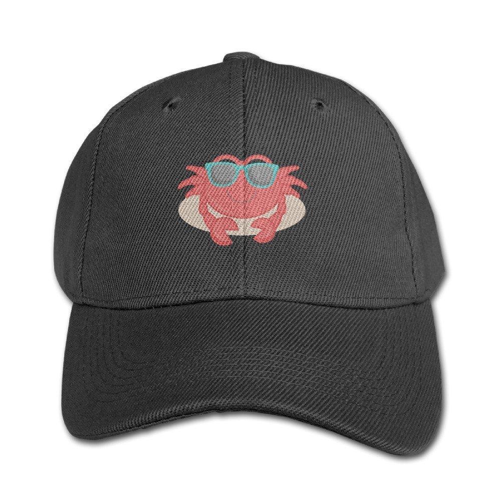 Ervyn Kids Plain Crab With Glasses Adjustable Baseball Cap by Ervyn