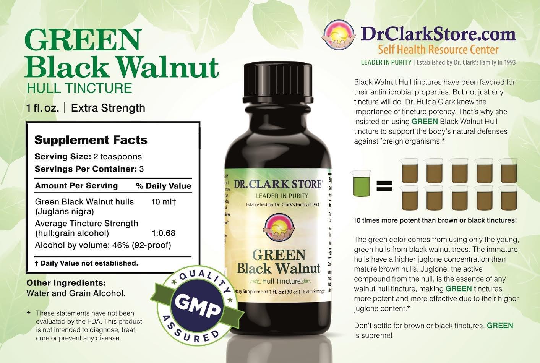 Amazon.com: Green Black Walnut Hull Tincture 4 oz: Health & Personal Care