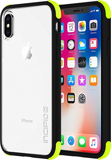 on sale 85547 58be9 Incipio IPH-1633-VLT Apple iPhone X Reprieve Sport Series Case -  Volt/Black/Clear