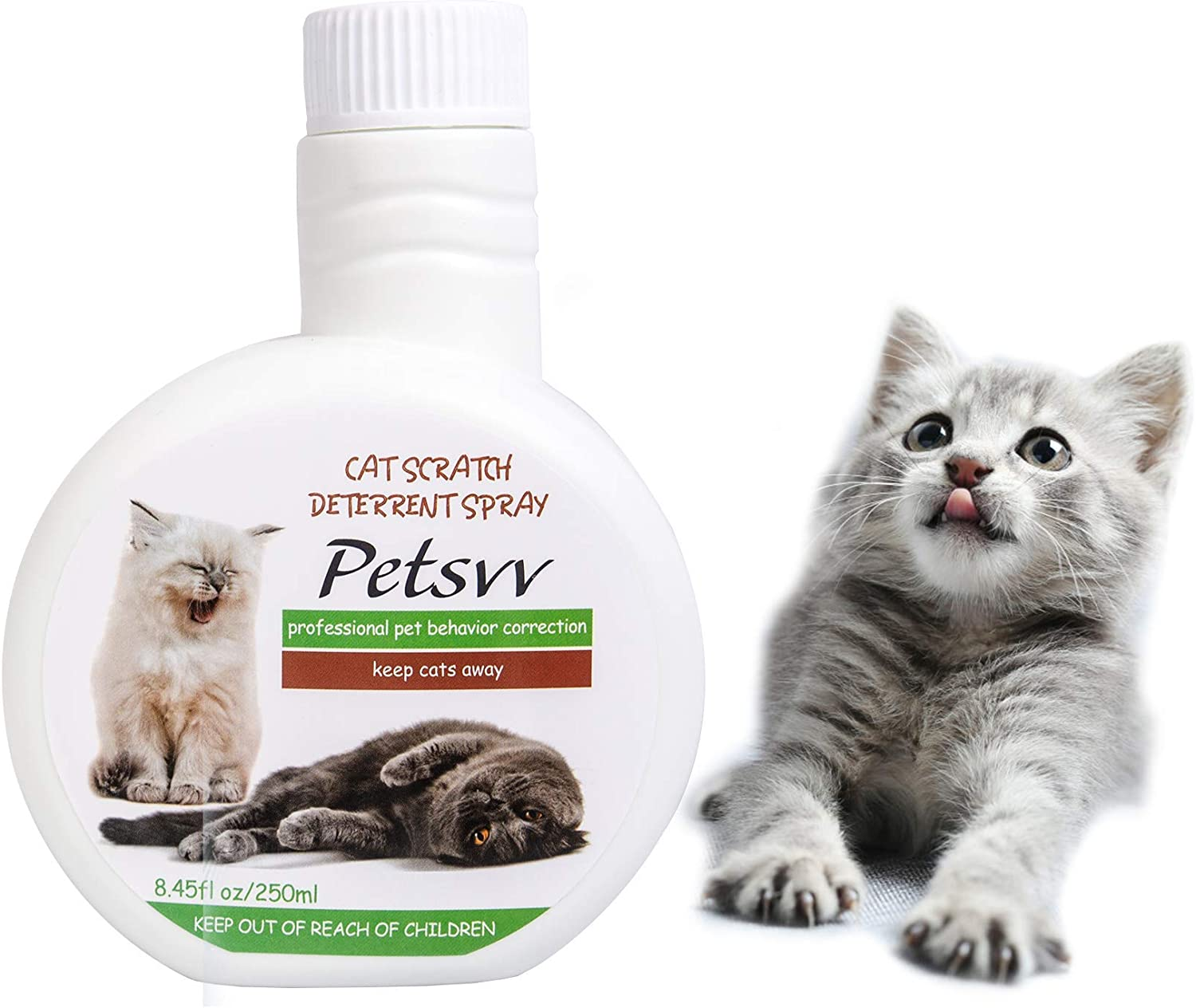 Cat Repellent Spray to Protect Indoor Furniture & Plant, Plant-Based Cat Scratch Spray, No Scratch Spray for Cats