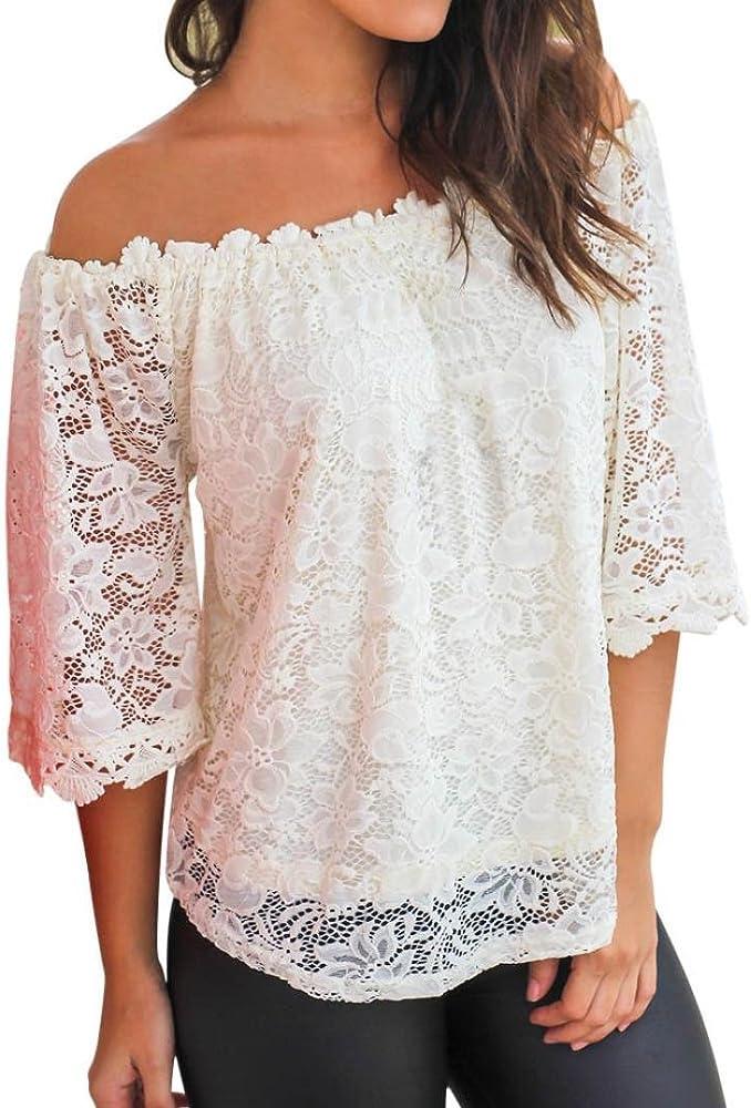 WSSB - Camisas - Estrellas - para Mujer Blanco Blanco Large: Amazon.es: Ropa y accesorios