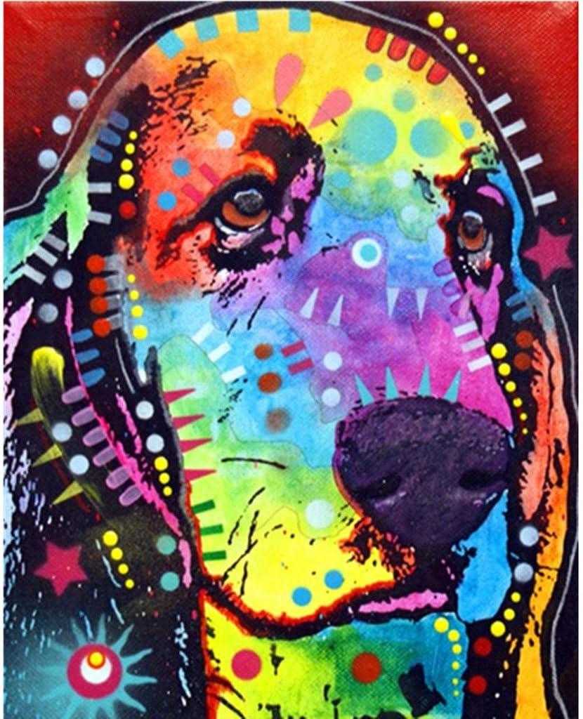 WOBANG 5D - Juego Completo de imágenes de Pintura de Diamantes 5D, diseño de Perro y león: Amazon.es: Juguetes y juegos