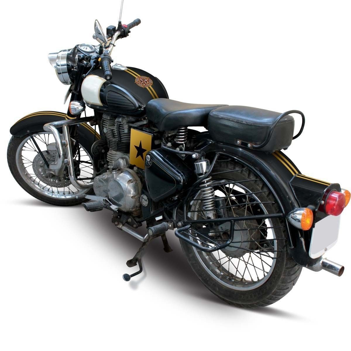 Delhi traderss explorer for royal enfield classic 350 bike sticker bullet sticker gold amazon in car motorbike