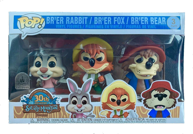 and Bear Fox Funko Disney Parks Exclusive Pop Splash Mountain 3-Pack Brer Rabbit