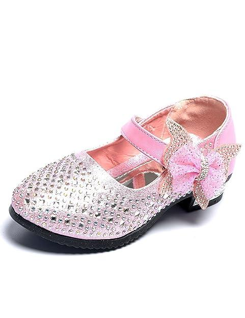 Mädchen Ballerinas Prinzessin Schuhe Studenten Lederschuhe Tanzschuhe mit  Schmetterling (29 EU 18.5cm  cc5880b626