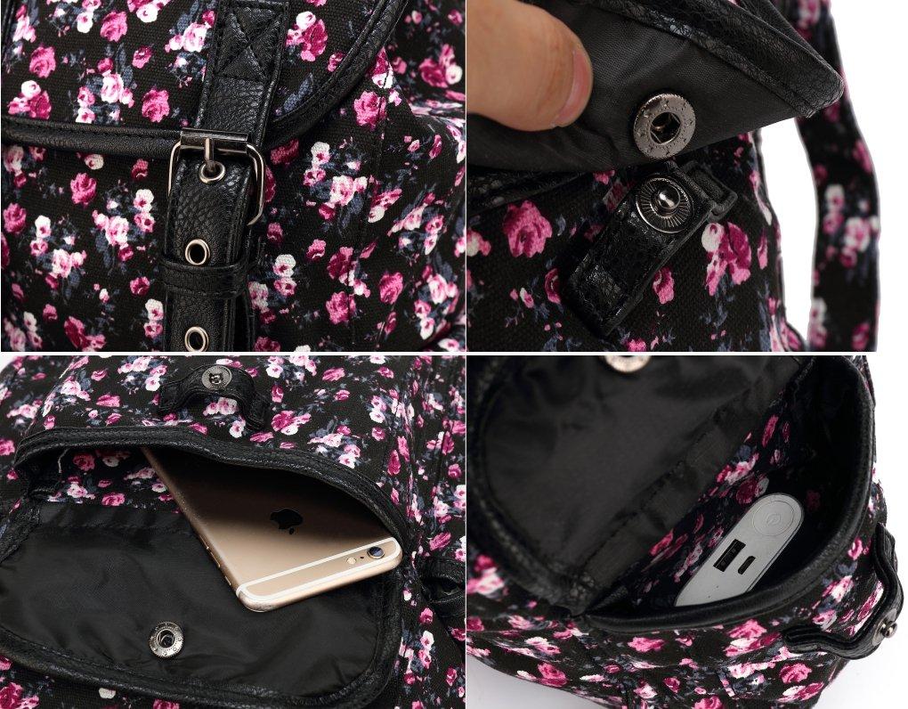 Kenox Canvas School College Backpack  bookbags for Girls  students  women 36f3d0e602178