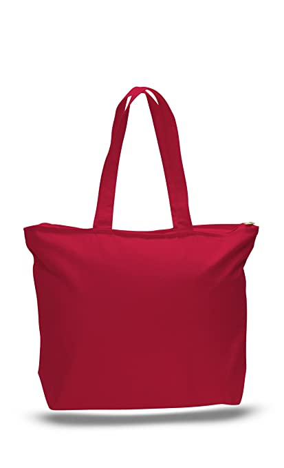 Amazon.com: Heavy Duty - 12 PACK - Canvas Tote Bags Large ...