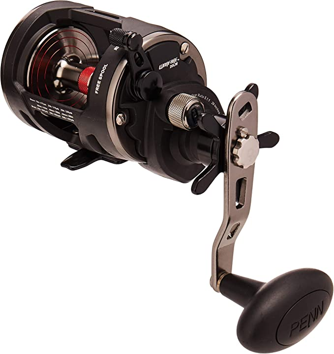 New PENN Warfare 20 Level Wind Left Hand Wind Multiplier Fishing Reel WAR20LWLH