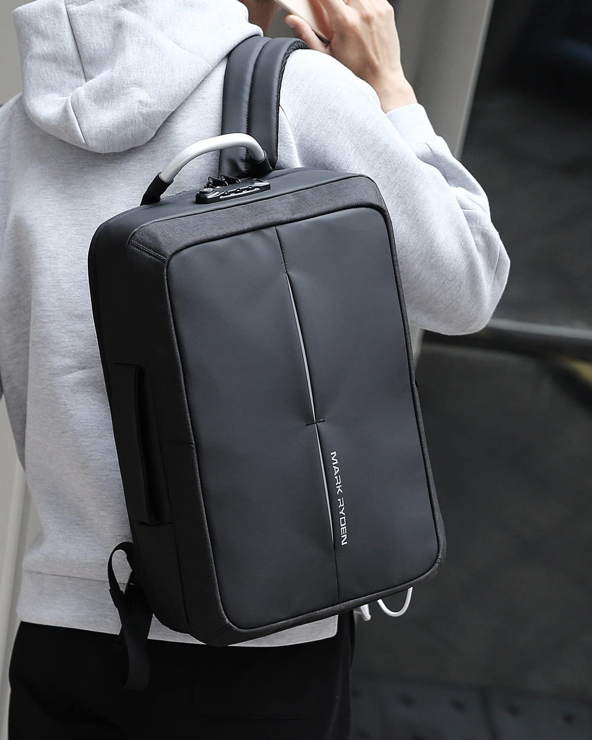 Mark Ryden Anti-Theft Cosmo Series Water Resistant Laptop Backpack with USB Charging Port Fits 15.6-Inch Laptop + Numeric Lock 71qKE0OspdLSL1500_