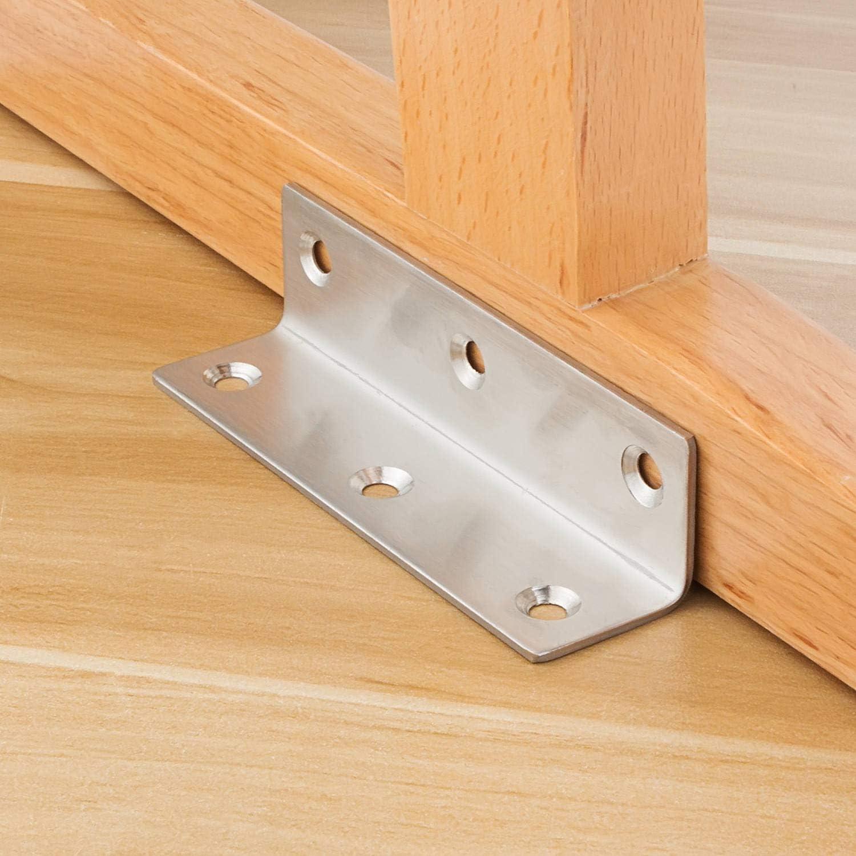 Angle Shelf Support Corner Bracket Wall Shelving Metal Zinc Plated 100mm QTY 22