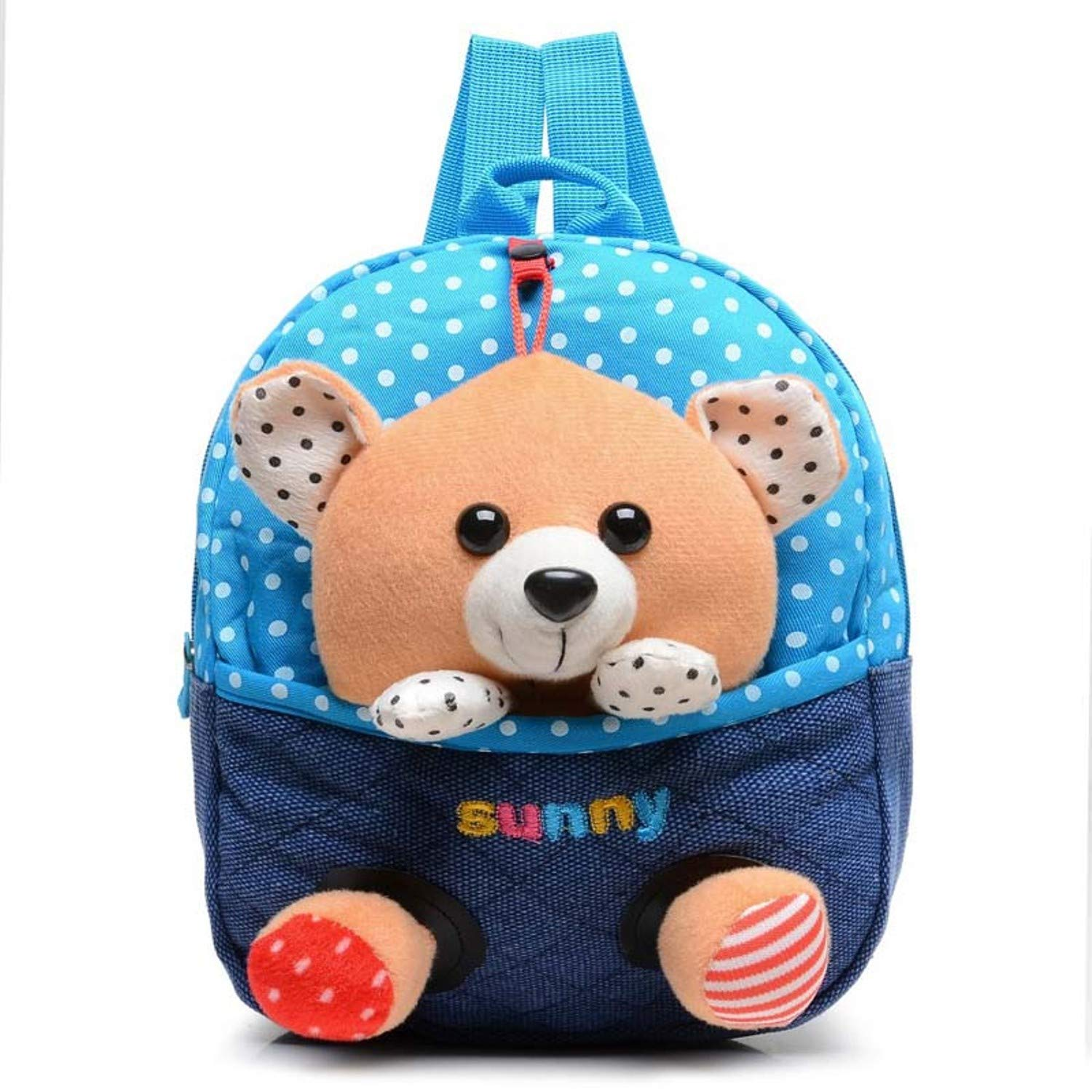 Amazon.com: Jewh Plush Backpack Toy Bear Children Backpack Dolls&Stuffed Toys Baby Hello Kitty School Bags Kids Baby Boy Bags Mochila 11-30cm (Bear Blue): ...