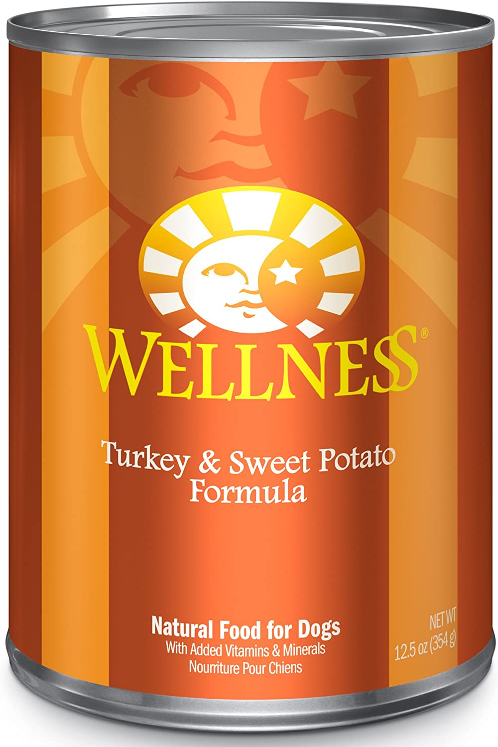 Wellness Complete Health Natural Wet Canned Dog Food Turkey & Sweet Potato