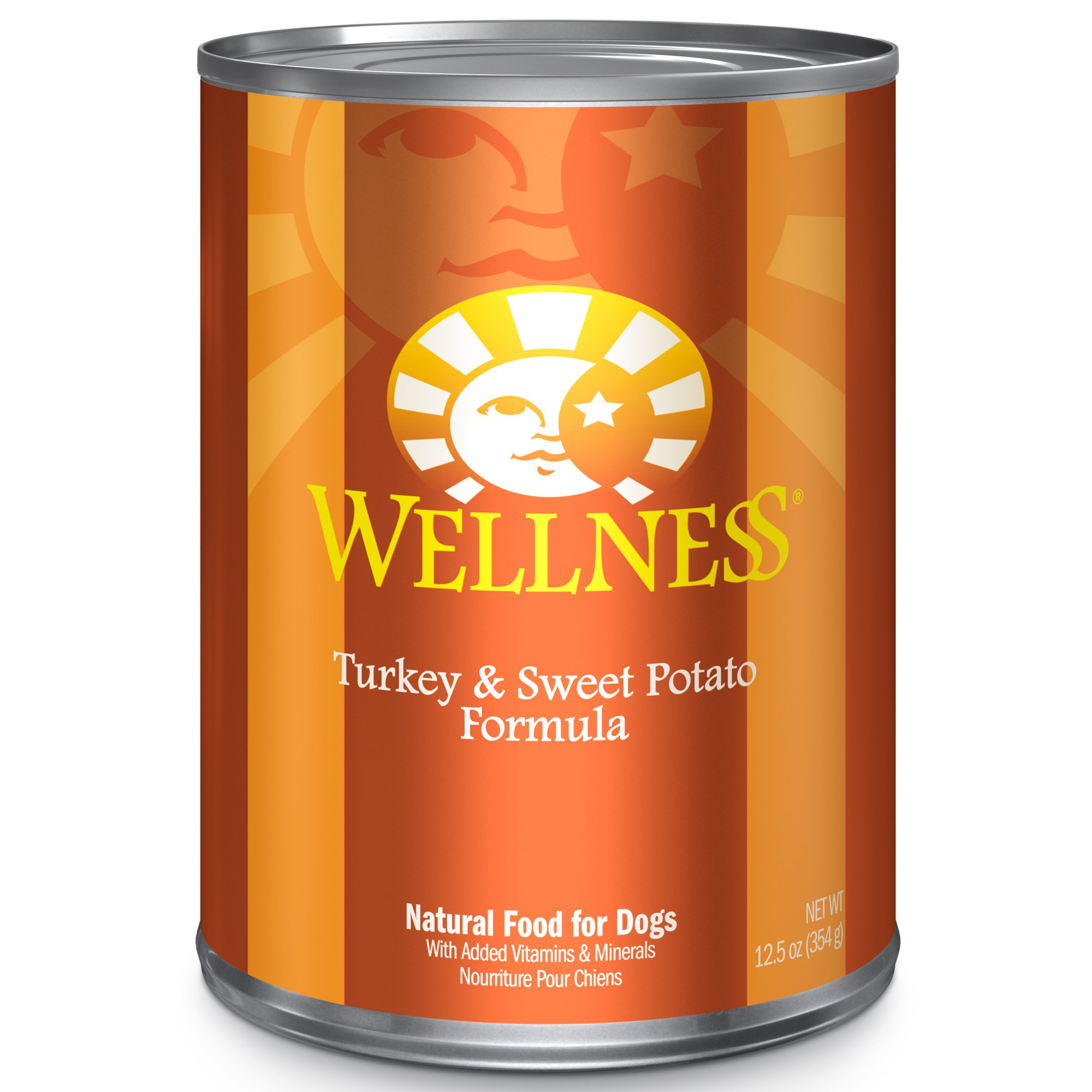 Wellness Complete Health Natural Wet Canned Dog Food, Turkey & Sweet Potato, 12.5-Ounce Can (Pack Of 12) by Wellness Natural Pet Food