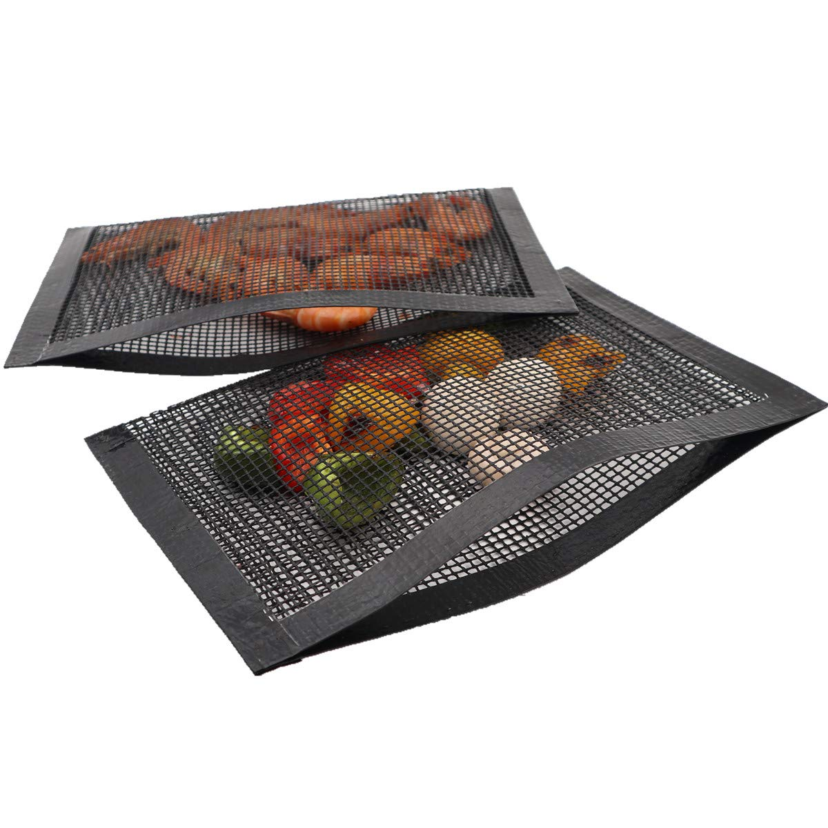 Bluedrop Non Stick Mesh Bag For Grill PTFE Toaster Oven Bags Barbecue Pockets Sheets Pack of 2