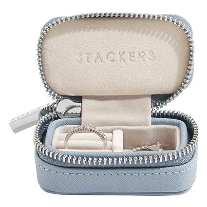 Stackers Dusky Blue Petite Travel Jewellery Box Amazon Co Uk